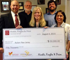 Hinkle Fingles & Prior makes signature gift to Autism NJ