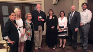 Herb Hinkle is honored by JESPE House with its Champion Award