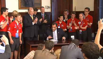 NJ Governor Chris Christie signing law mandating provision of inclusive sports - Hinkle, Fingles & Prior, disability law firm, New Jersey and Pennsylvania