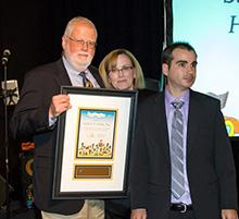 Herbert D. Hinkle, Esq. receiving Autism New Jersey's Lifetime Achievement Award