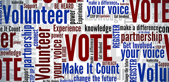 promotion of voting word cloud